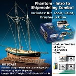 Model Shipways MS2027SP Phantom - Intro to Shipmodeling Combo with Tools, Paint, Brushes & Glue