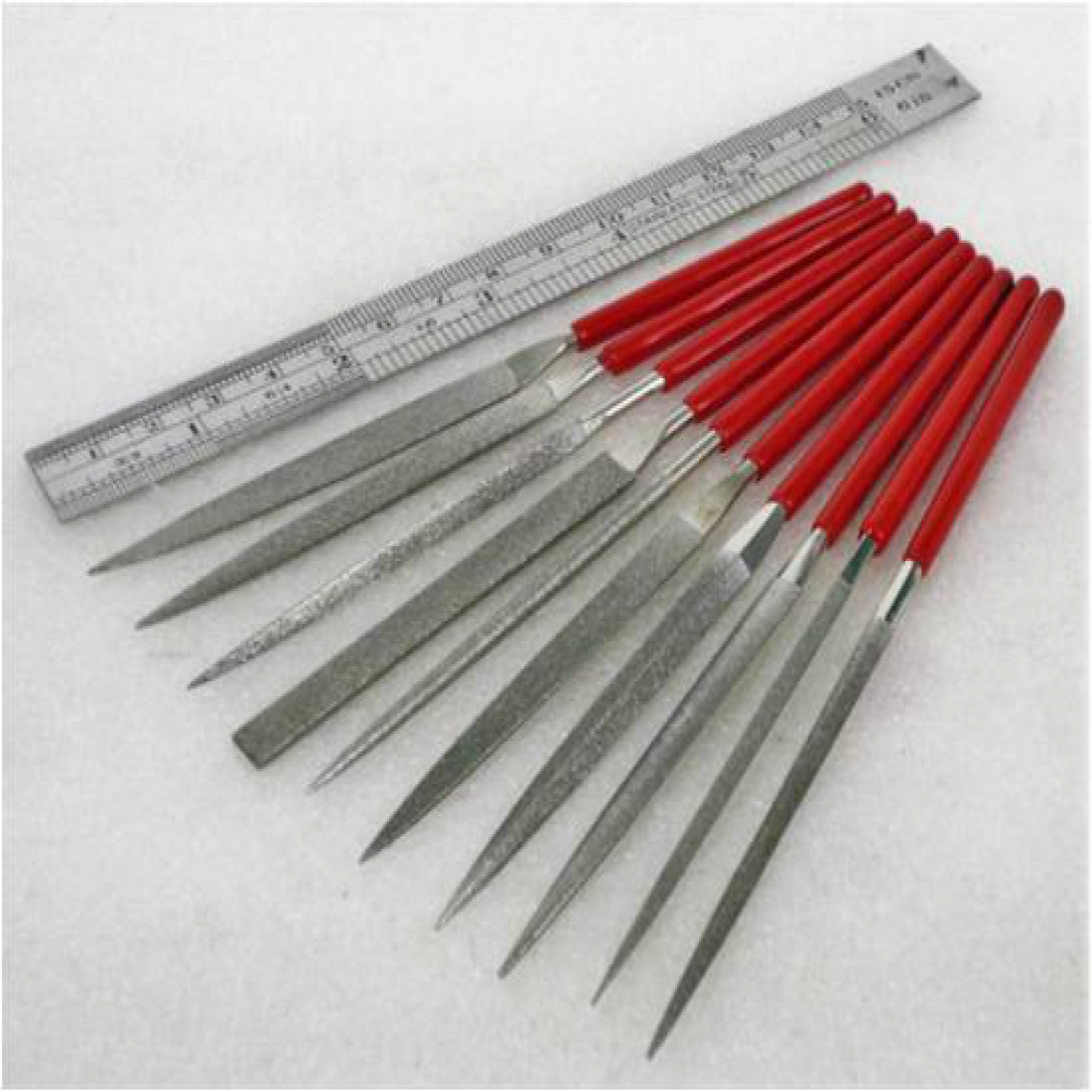 DIAMOND COATED NEEDLE FILE SET, 10 PCS 5-1/2