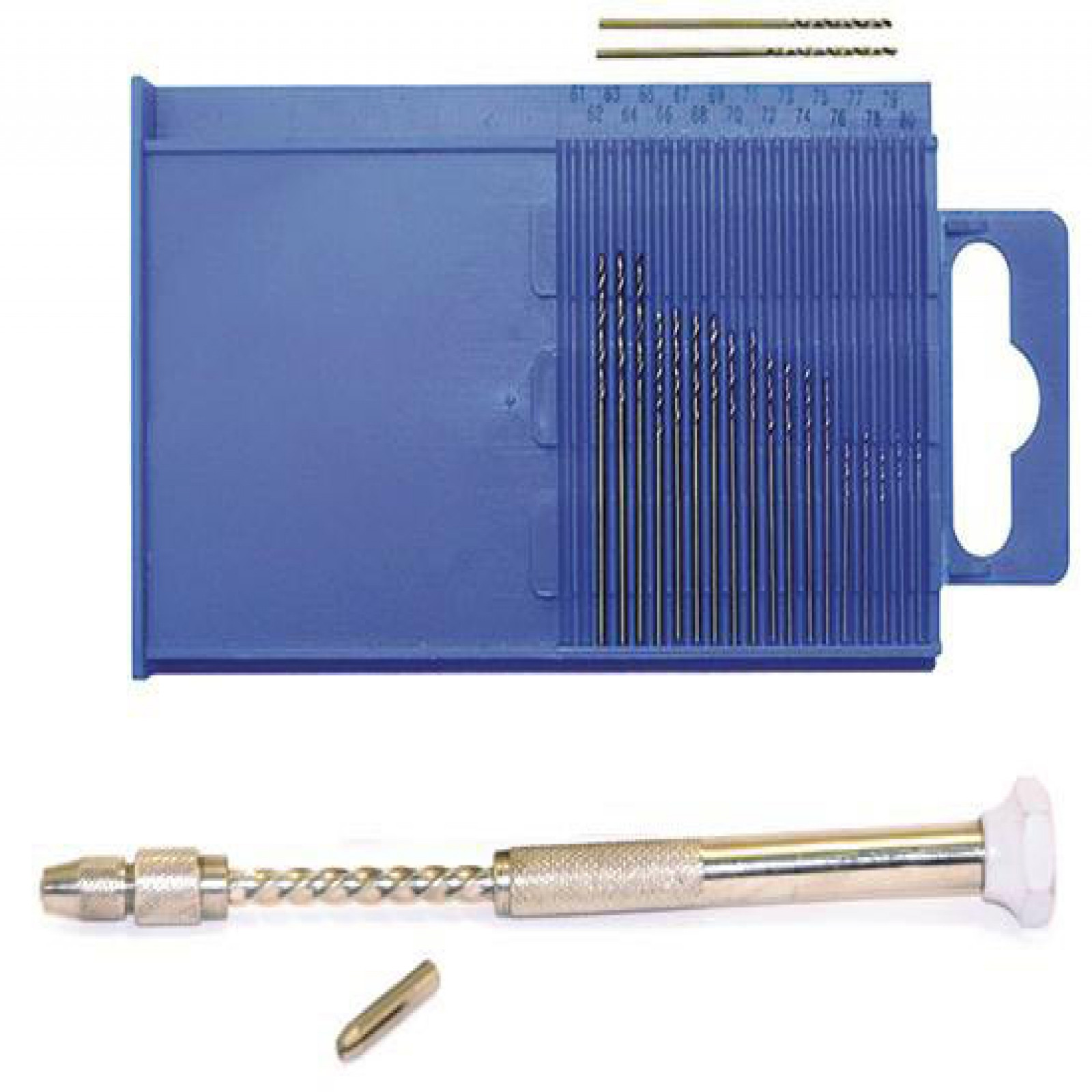 20 PC. MINI-DRILL SET WITH SPIRAL PUSH DRILL