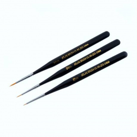ATLAS TAKLON DETAIL 3 PC. BRUSH SET 5/0-10/0-20/0