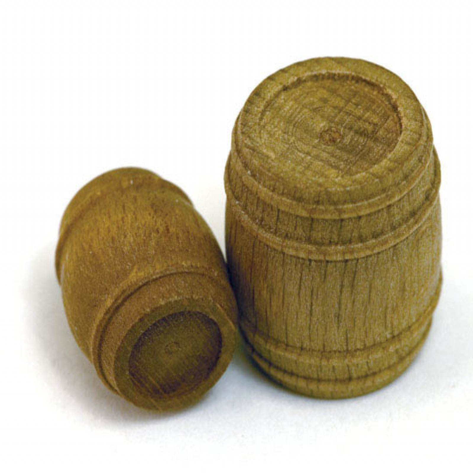 BARREL, WALNUT H=7/8 X W=3/4 (22X19MM), 6 PER PACK