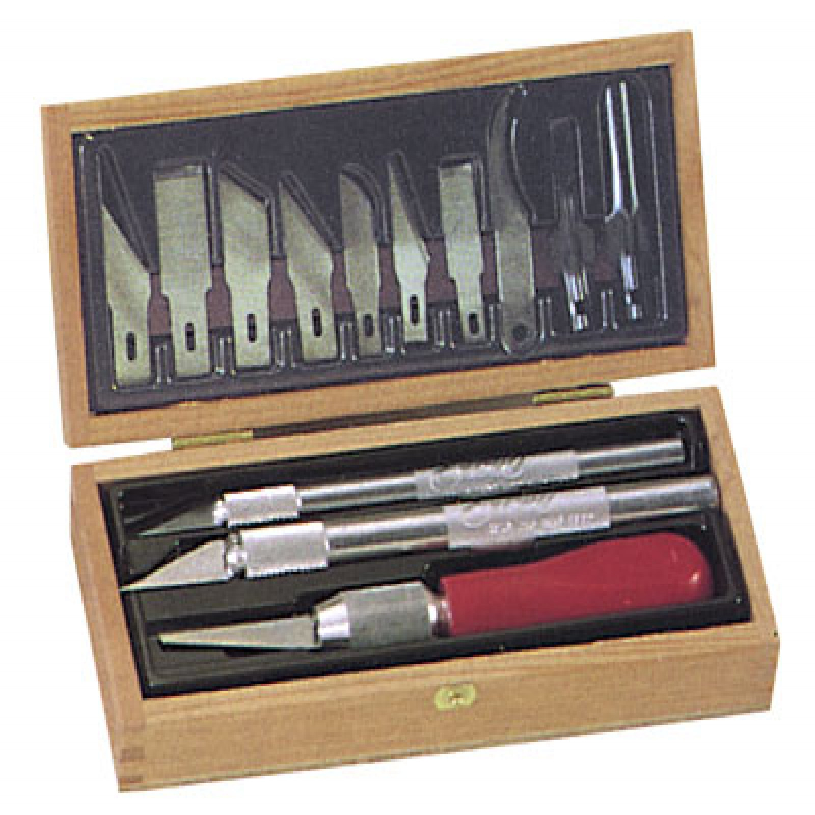 EXCEL NO.44290 PROFESSIONAL WOODCARVING SET IN WOOD BOX