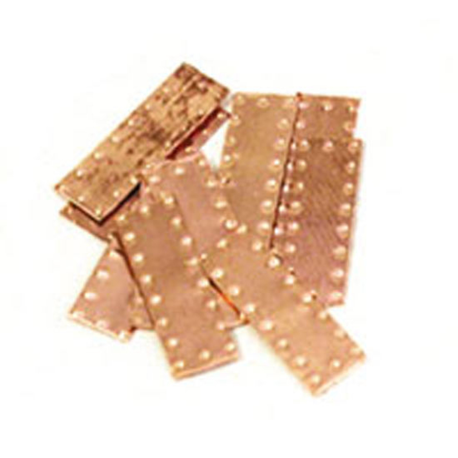 SM DIMPLE COPPER PLATES (6 X 12MM) 50/PK