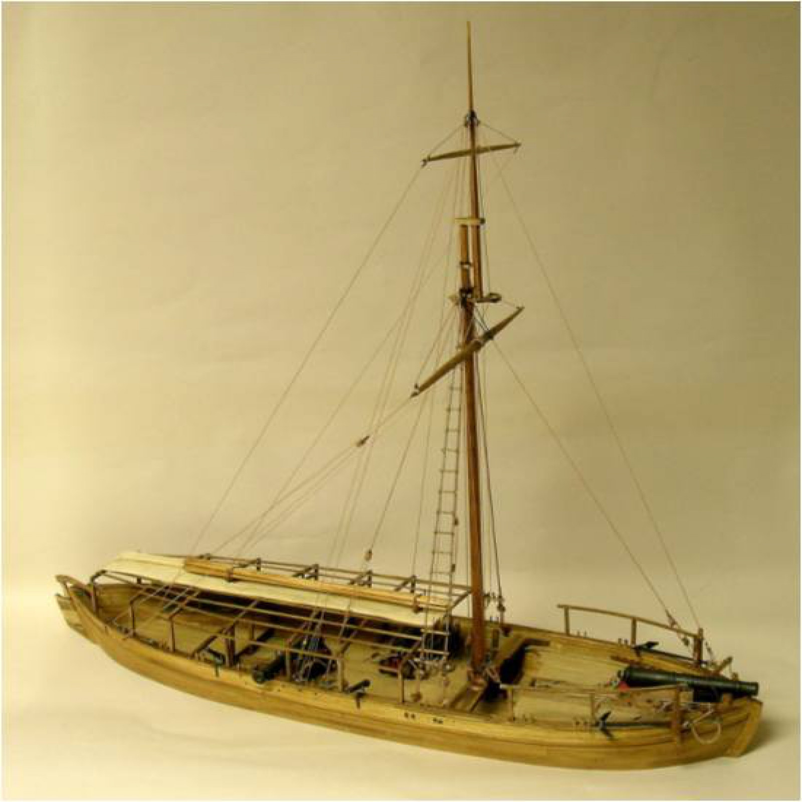 Model Expo GUNBOAT PHILADELPHIA 1776 1:24 SCL