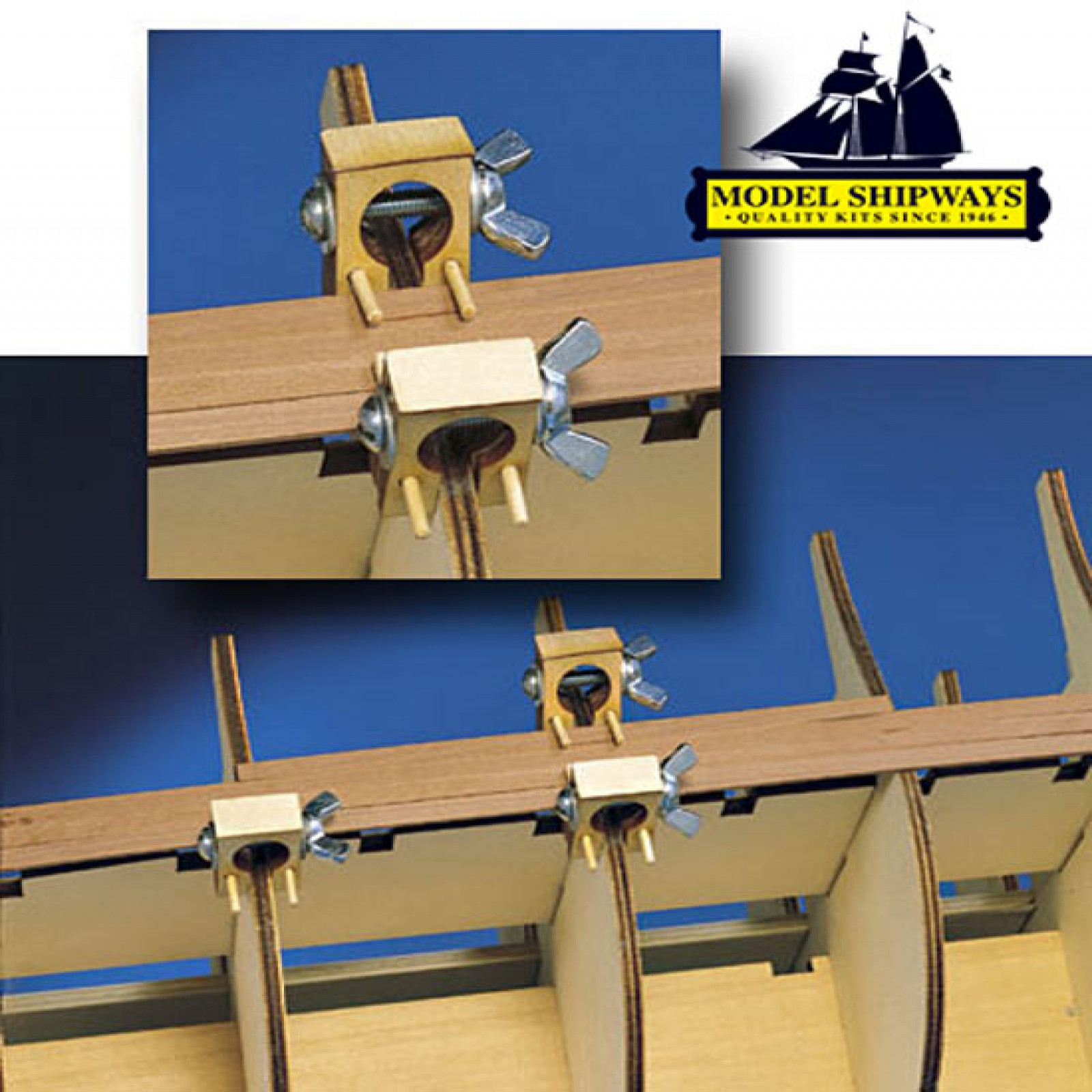 HULL PLANKING CLAMP SET OF 6 (3/16  AND LARGER)