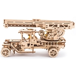 Ugears -  Fire Truck with Ladder - Laser Cut Wood - 537 Parts
