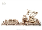 Ugears - Mechanical Series Rail Manipulator- Laser Cut Wood - 356 Parts