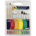 LOEW CORNELL ALL PURPOSE BRUSH SET 15PC