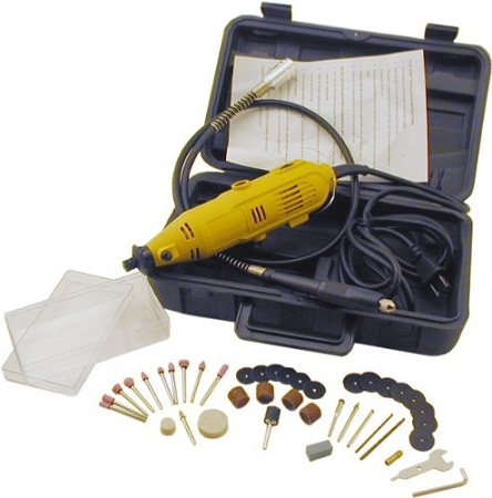 ENK101 Rotary Tool with Flex Shaft + 40 Accessories & Robust Carrying Case