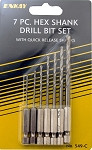 ENK549  7 Pc. Hex Shank Drill Set  1/16 to 1/4