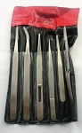 MT1066 SET OF 6 STAINLESS STEEL TWEEZERS FOR DELICATE MODELING PROJECTS