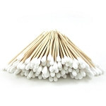 COTTON SWABS BIRCH WOOD HANDLE 100 pcs