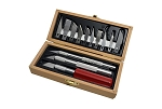 Mascot H865 - 3 Pc. Hobby Knife Set and Blades in Wood Chest
