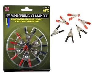 6-PC. MINI SPRING CLAMP SET