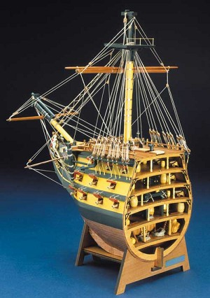 Mantua/Panart  746 HMS Victory Bow Section 1:78 Scale Plank-On-Frame Wood Ship Model Kit
