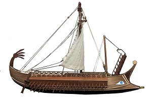 "CCV Modelli - TRIREME ROMANA - Wood Plank-on-Bulkhead Ship Model Kit - Length: 550mm (21.5""),  Scale 1:72"