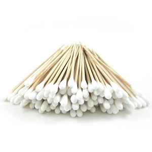 100 Cotton Swabs with Birch Handles