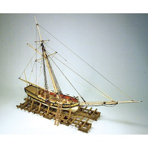 Model Expo ARMED VIRGINIA SLOOP  1:48 SCALE