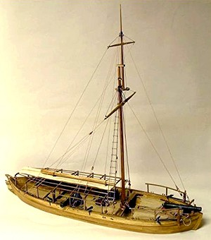 MS2263 GUNBOAT PHILADELPHIA AMERICAN FLEET 1776 1:24 SCALE