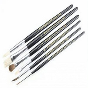 ATLAS BRUSH ASSORTMENT - 3 ROUND & 3 FLAT - TOTAL 6 PCS
