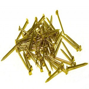 COATED BRASS NAILS  .028 X 1/2IN (.71X12MM) 200PC