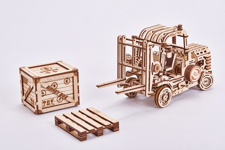 Modelexpo Online Com Wood Trick Forklift Model Kit