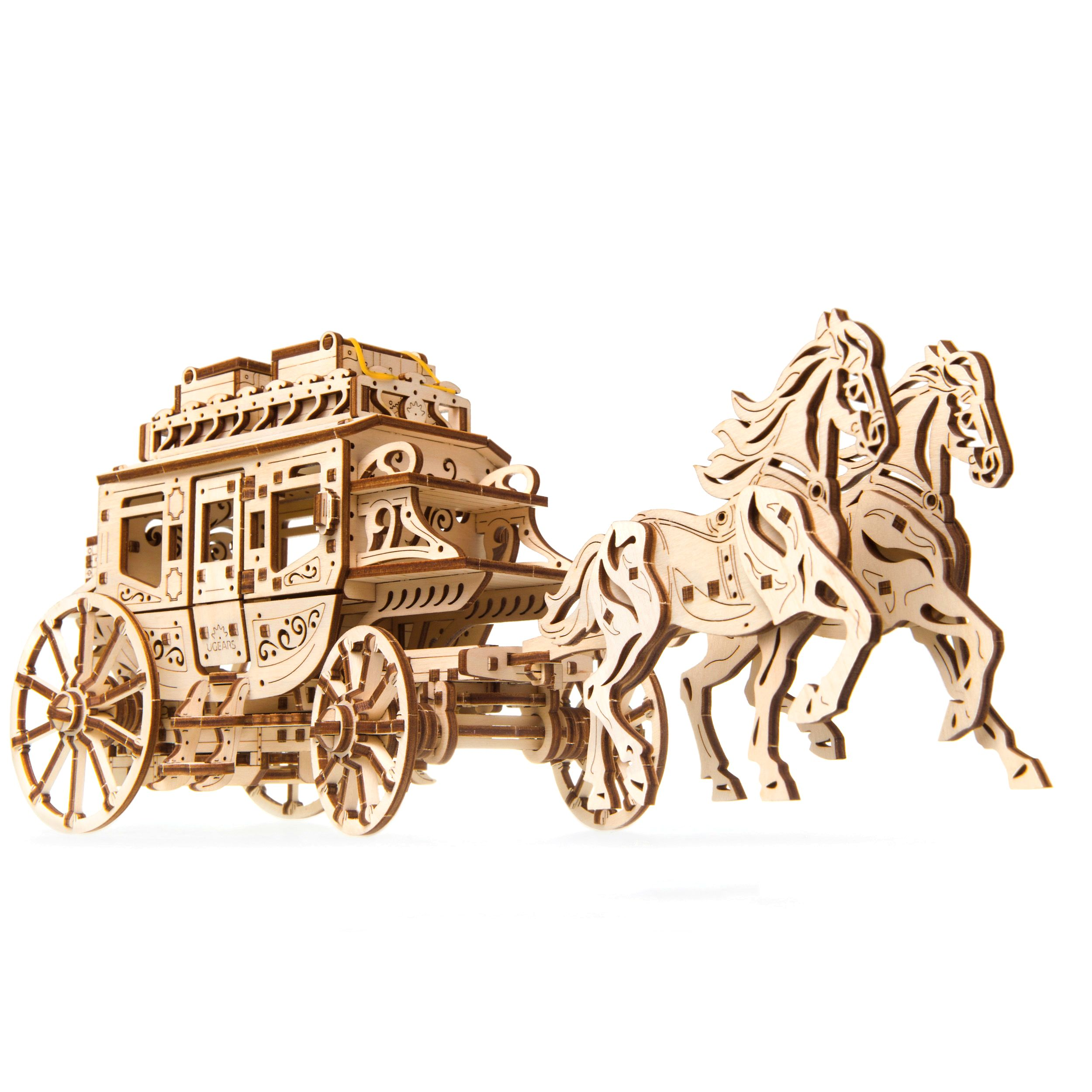Ugears - Stagecoach - Laser Cut Wood - 248 Parts