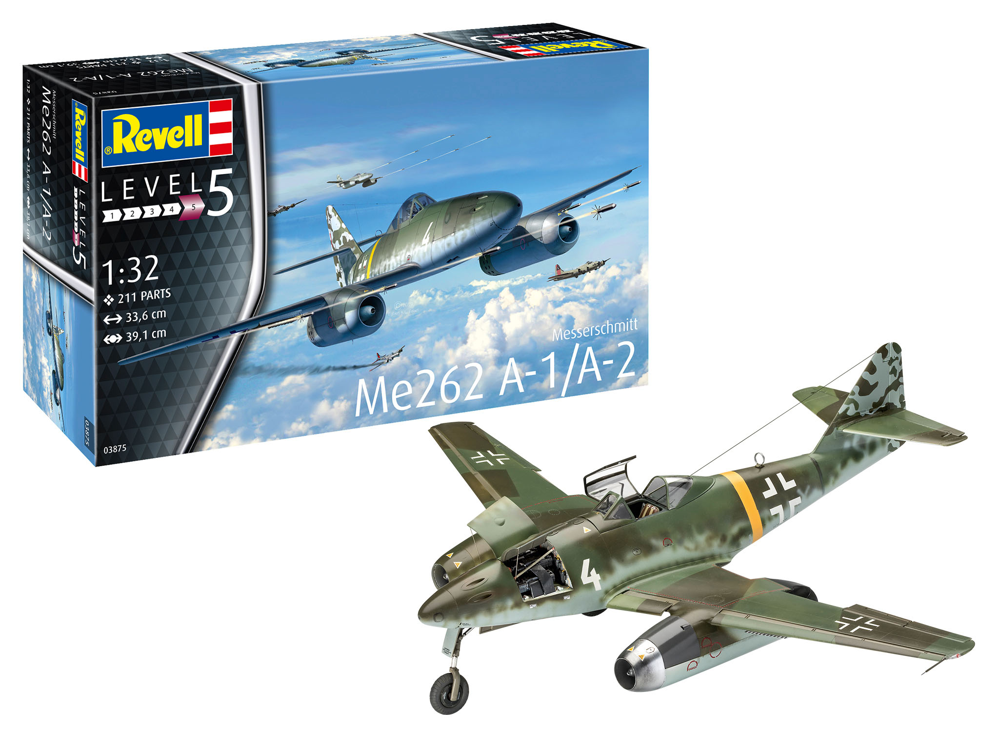 Revell of Germany Me262 A-1 Jetfighter 1/32 Scale