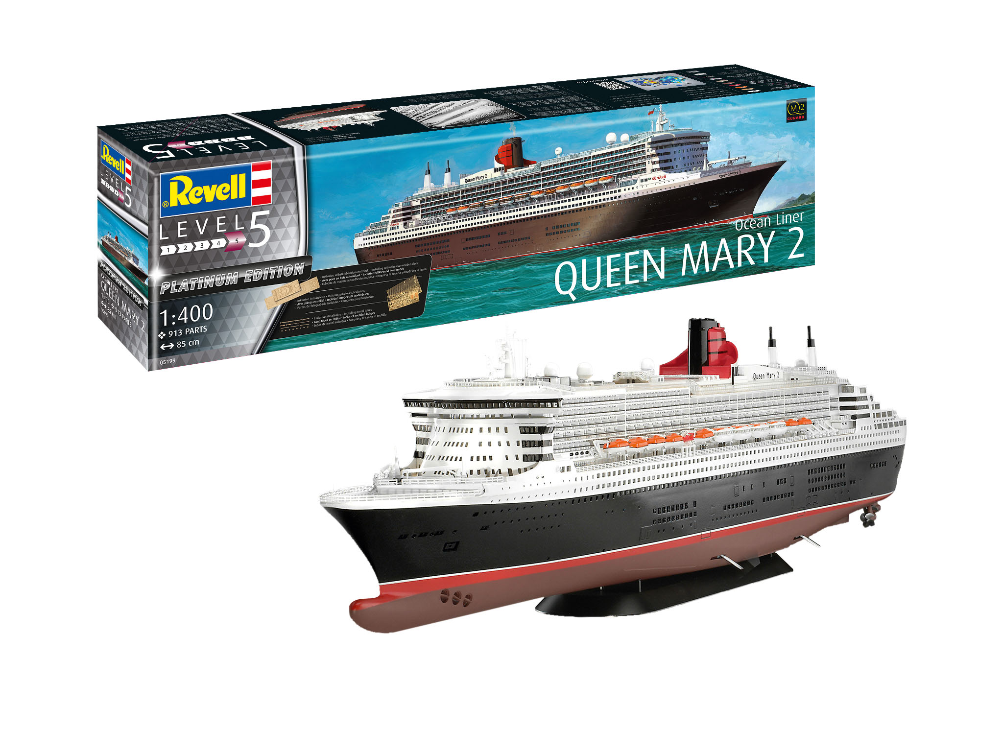 Revell of Germany Queen Mary 2 1:400 Scale