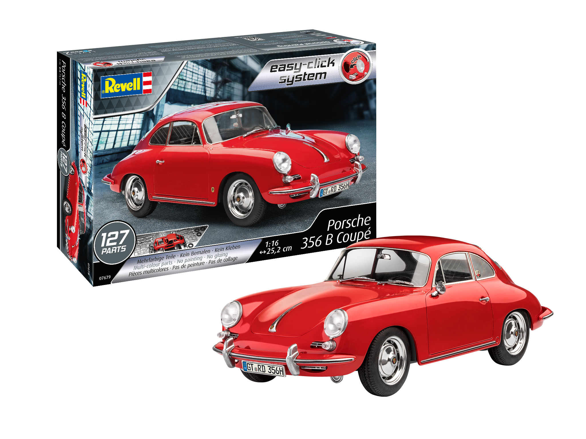 Porsche 356 B Coupe 1:16 Scale Easy Click System