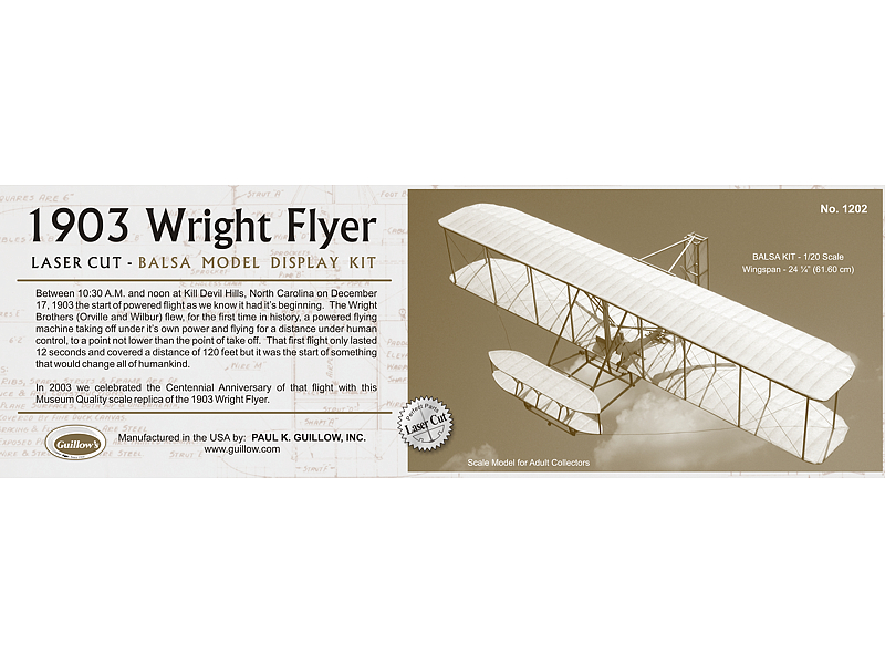 GUILLOWS Wright Flyer 24