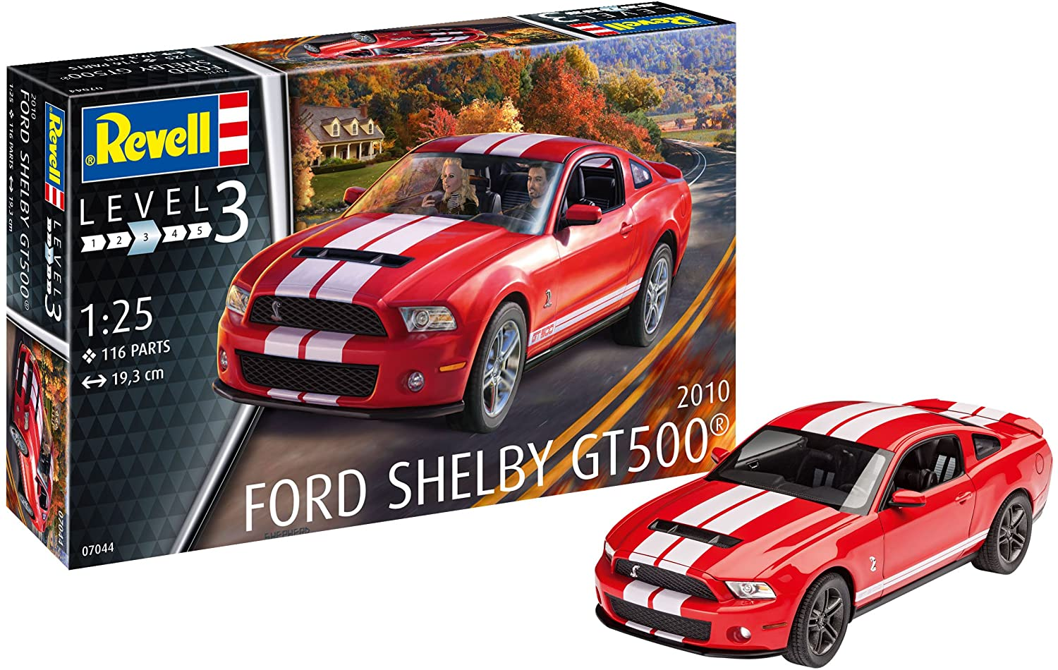 Revell of Germany 2010 Ford Shelby Mustang GT 500 1/25 Scale