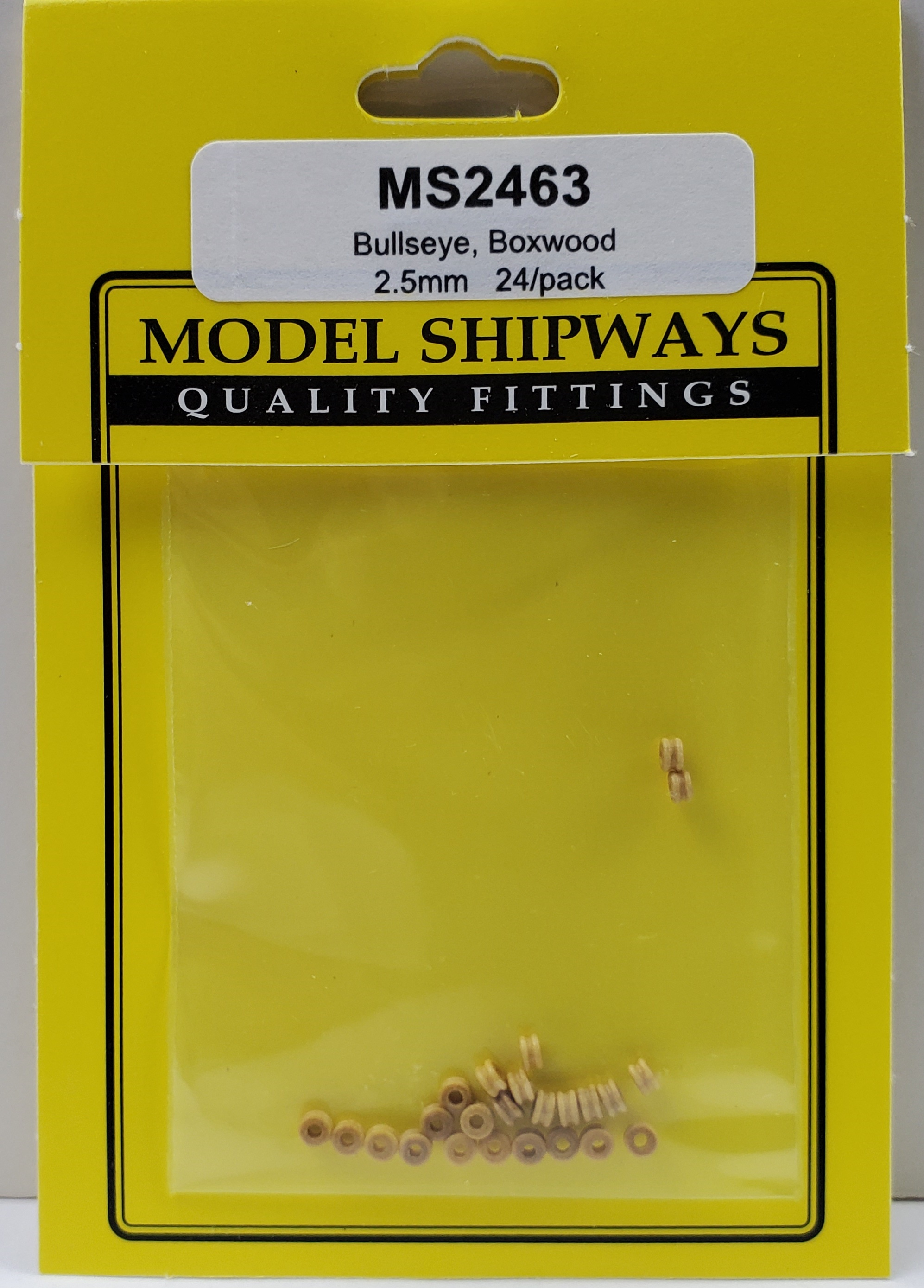 Model Shipways Bullseye, Boxwood 3.5mm24 pack