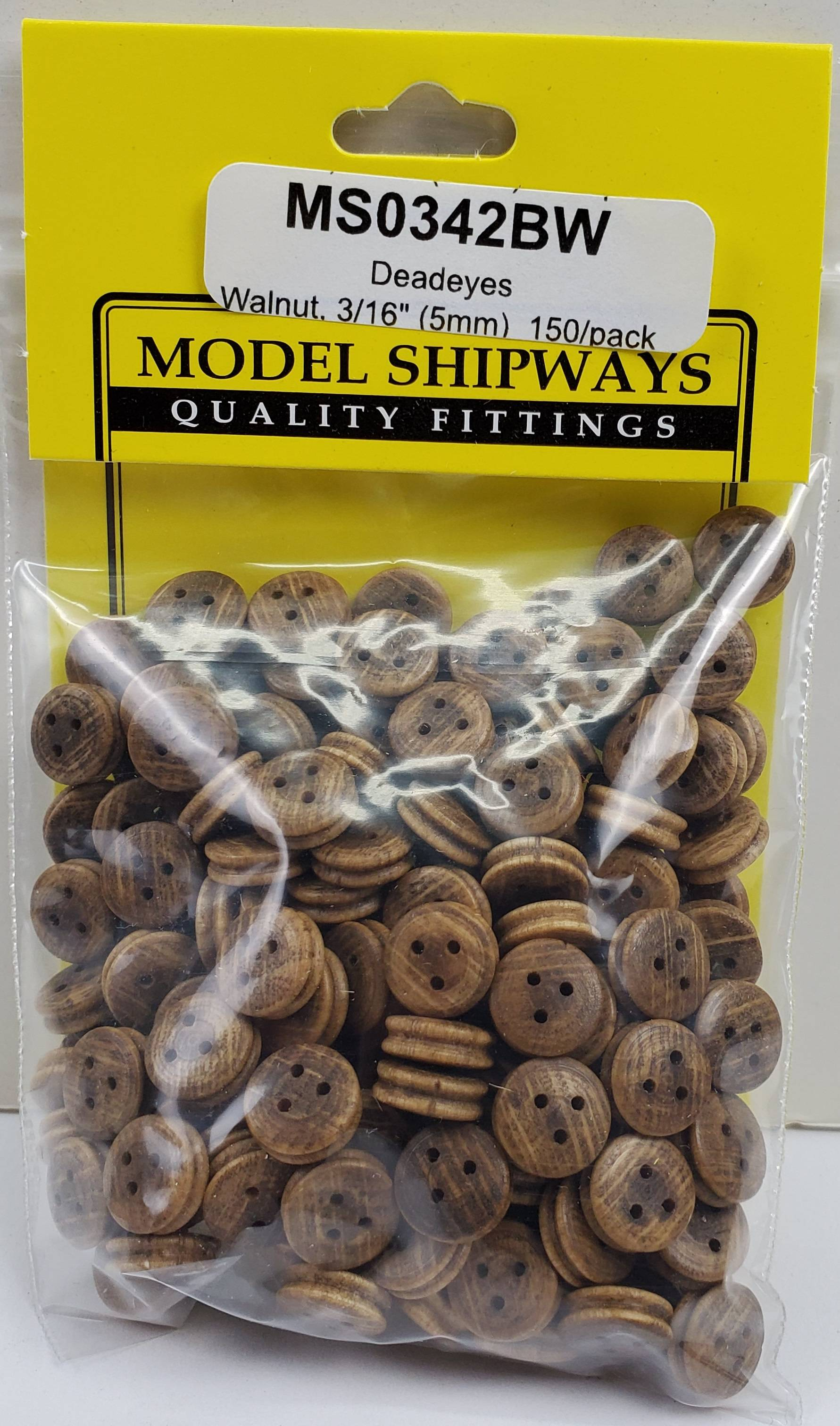 8 MM 3 eyes Deadeyes Pulley Accessories for Wooden Ship Model Kits-20 Pec//packet
