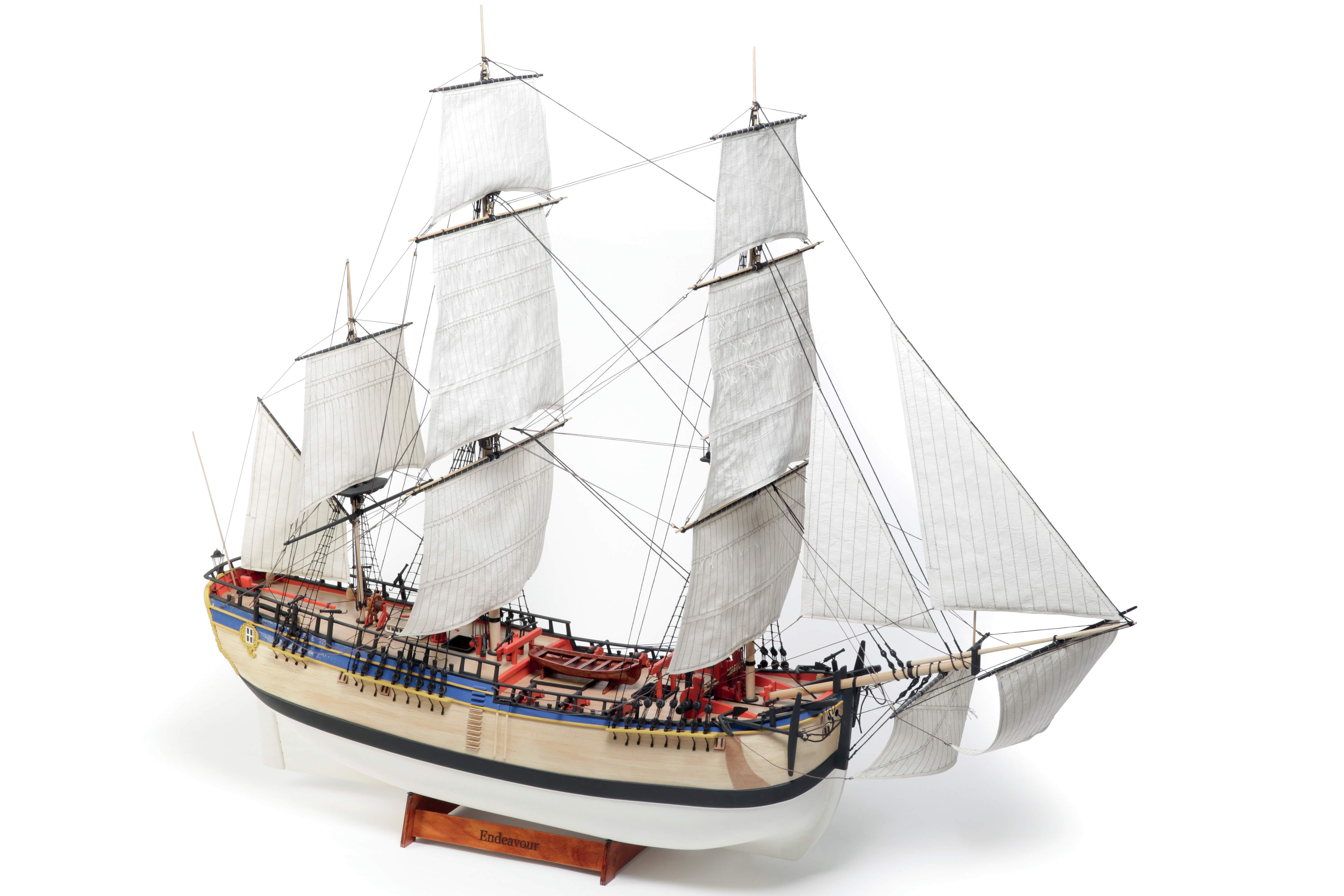 Billing Boats HMS Endeavour 1:50 Scale Wooden Hull