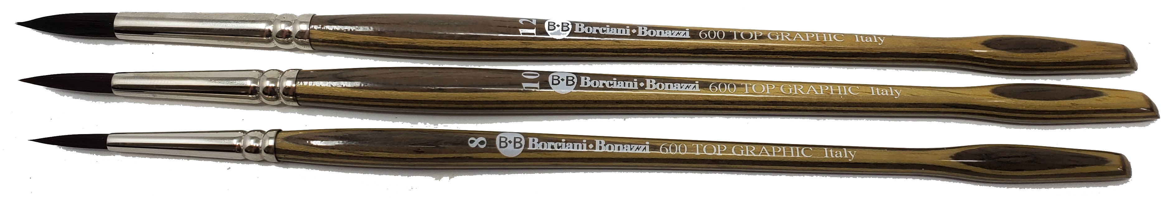 Borciani Bonazzi Top Graphic Series 600 - Round Brush (Available in Multi sizes)