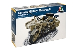 Italeri BMW R75 German Military MotorCycle with Side Car 1:9 Scale