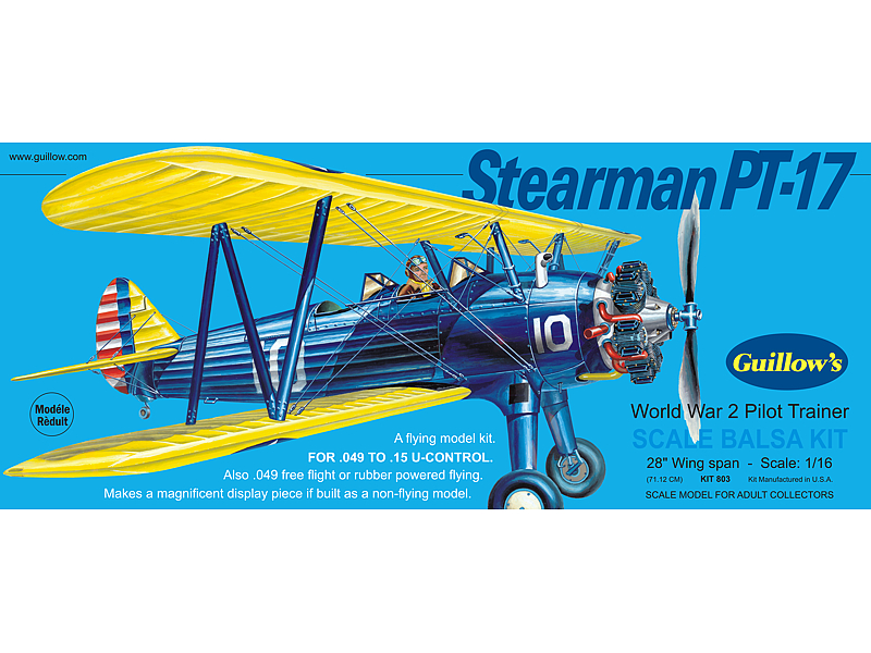 GUILLOWS Stearman PT-17l Laser Cut 28