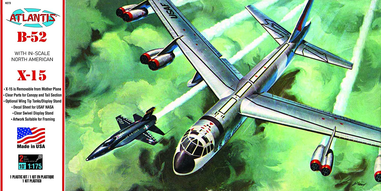 Atlantis Models B-52 and X-15 with Swivel Stand 1/175 Scale