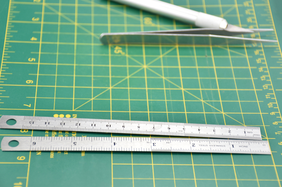 2 Pc 6 Steel Ruler Set X 20mm Wide