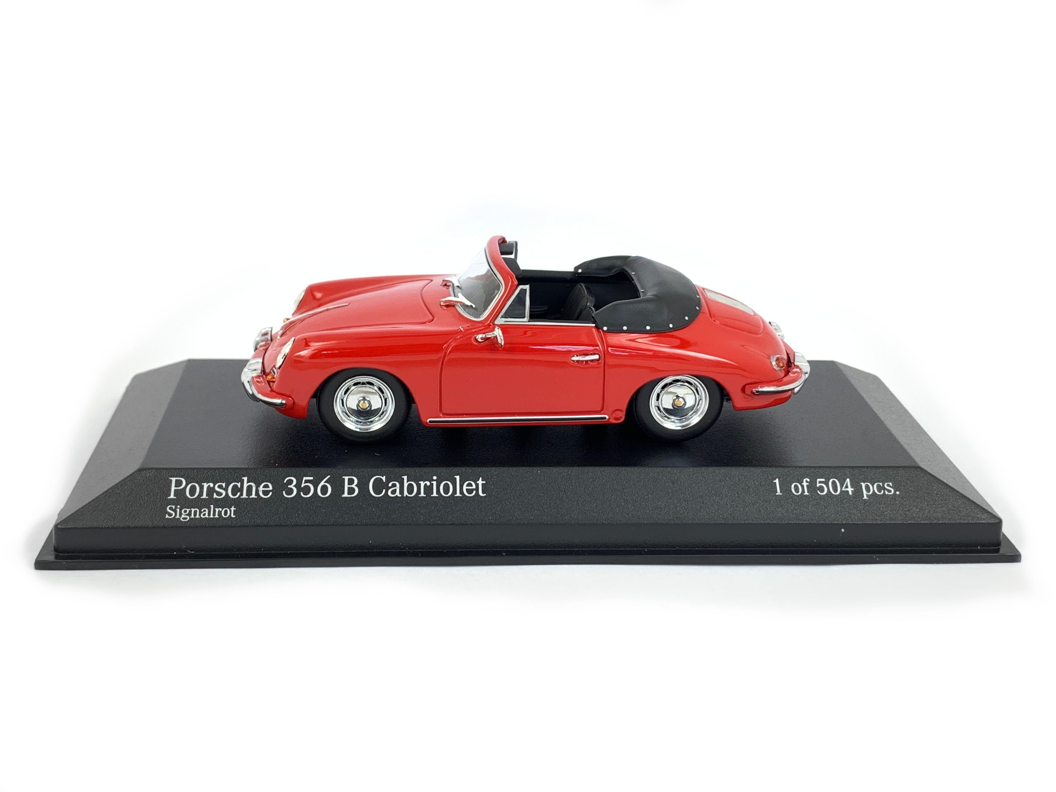 Minichamps 1 43 Die Cast Porsche 356 B Cabriolet 1960 Signal Redred Ltd 504 Pcs
