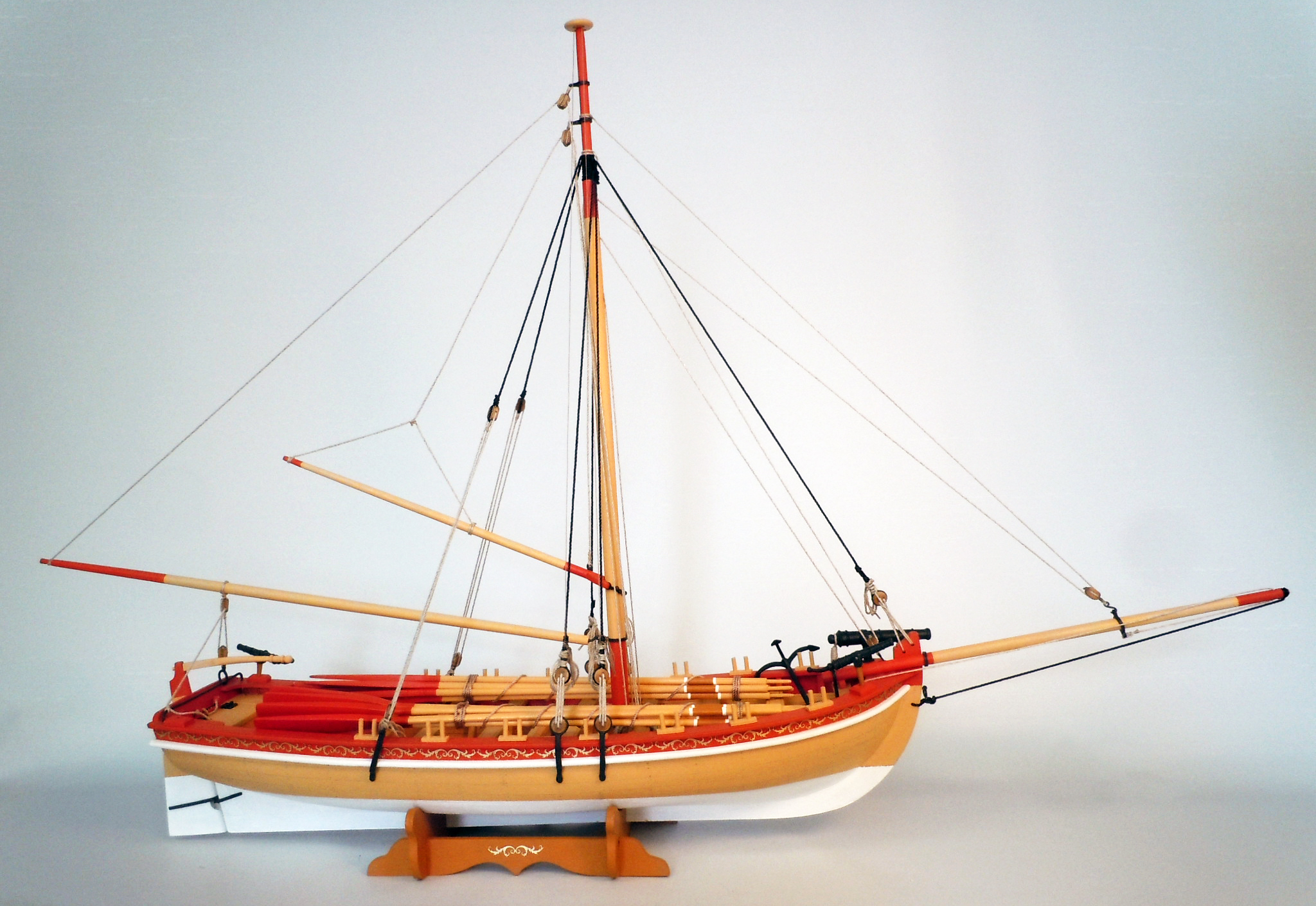 Model Shipways MS1460 18th Century Armed Longboat 1:24 Scale - Laser Cut Wood, Metal & Photo-etched Brass Kit