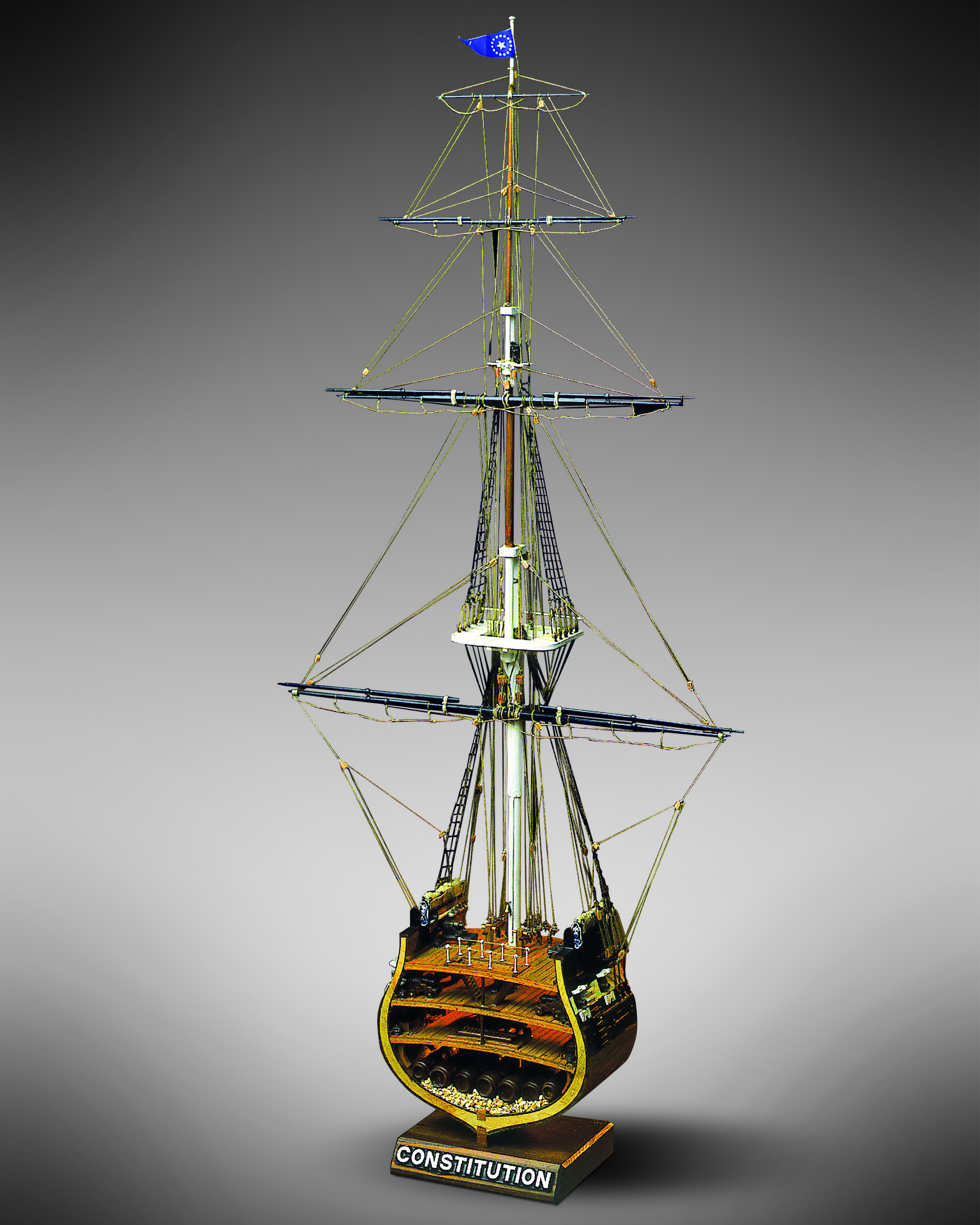 Mamoli Mv32 Uss Constitution Section Wood Plank On Frame Model Ship Kit Scale 1 93 Width 320 Mm 13 Height 667mm 26