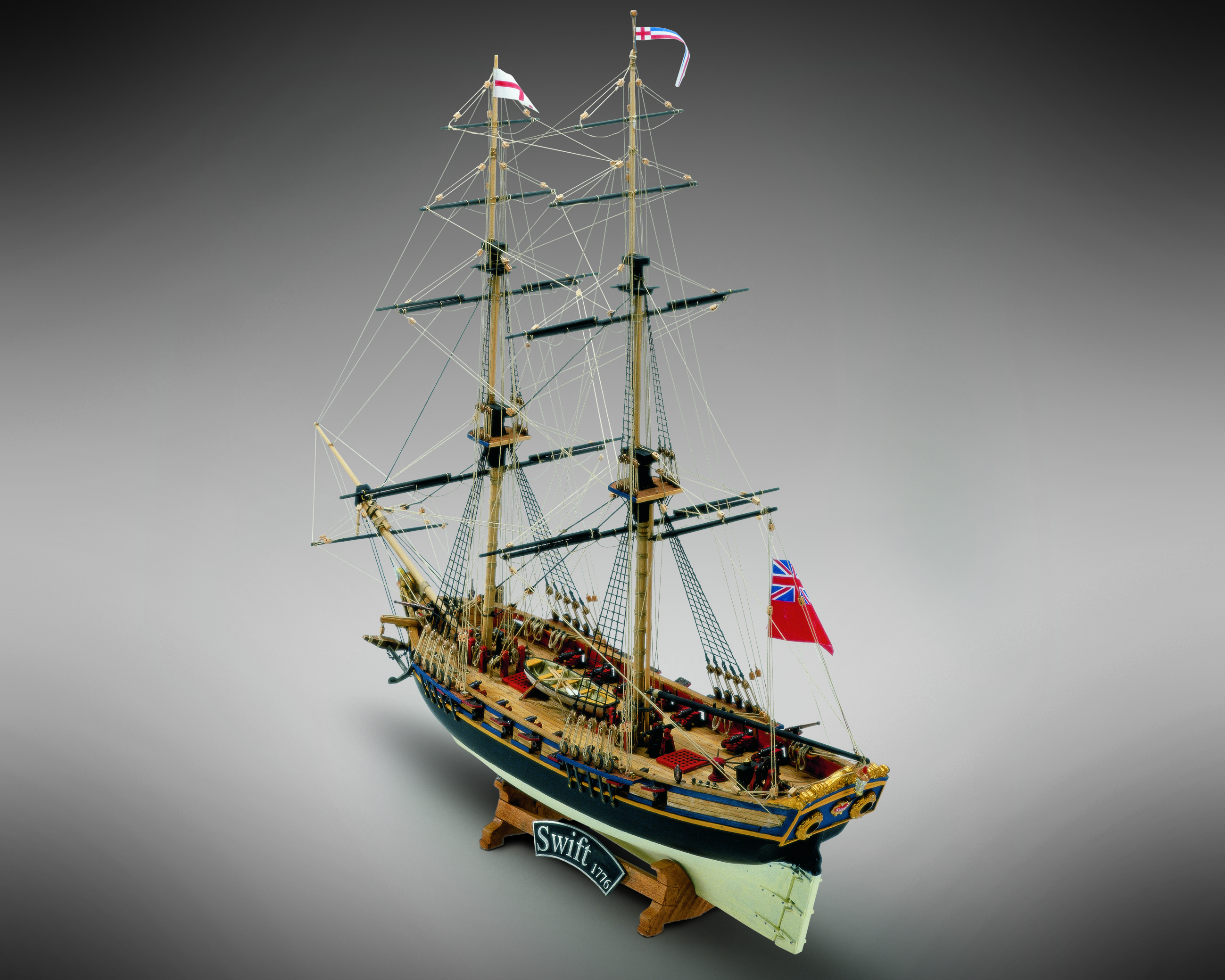 Mamoli Mv59 Hms Swift Wood Plank On Frame Ship Model Kit Length 421mm 17 Height 392mm 15 Scale 1 70