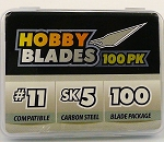 MT1399 Model Expo Package of 100 pcs. #11 Hobby Knife Blade