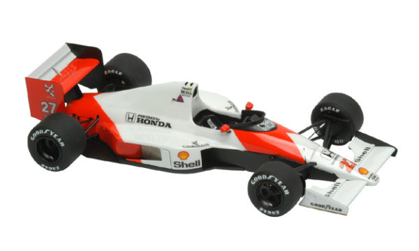 Tameo SLK016 McLaren MP4/5B Honda - 1990 - White Metal Car Kit - Scale 1:43, Made in Italy