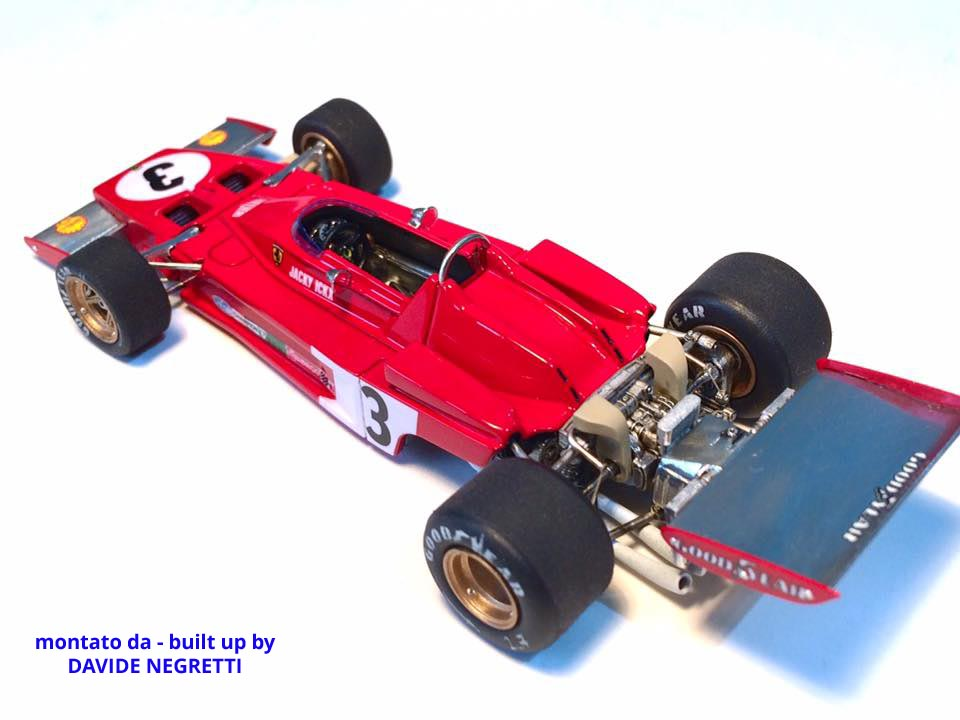 Tameo SLK117 Ferrari 312B3 - 1973 - White Metal Car Kit - Scale 1:43, Made in Italy