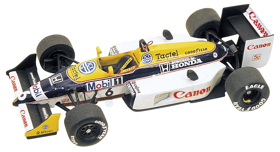 Tameo TMK054 Williams Honda FW11b 1987 - White Metal Car Kit - Scale 1:43, Made in Italy