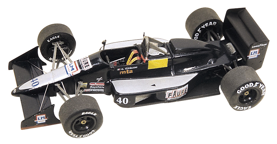Tameo TMK099 AGS JH23 Cosworth - 1989 - White Metal Car Kit - Scale 1:43, Made in Italy