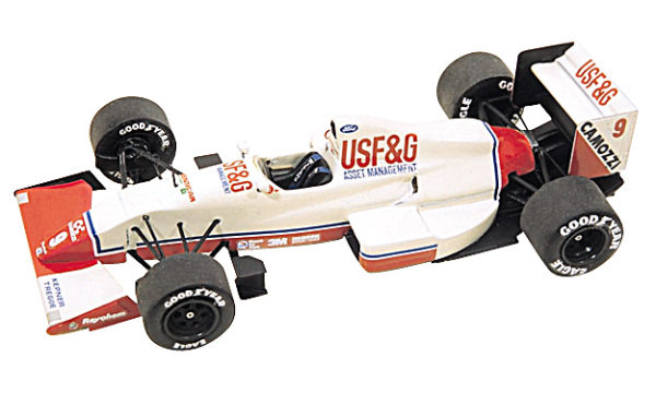 Tameo TMK100 Arrows A11 Cosworth - 1989 - White Metal Car Kit - Scale 1:43, Made in Italy